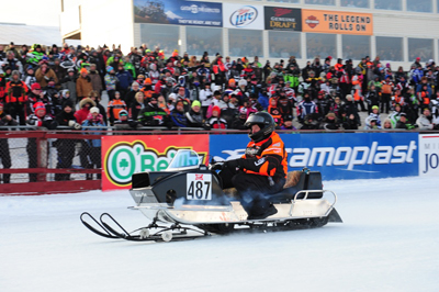 1969 World Champ Roger Janssen at 2013 Eagle River Derby. Photo by	 ArcticInsider.com